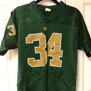 Youth boys large Notre Dame football jersey